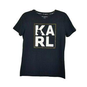 Karl Lagerfeld Black Crewneck T-shirt XS x-small